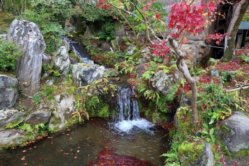 Small waterfall at Isuien Garden