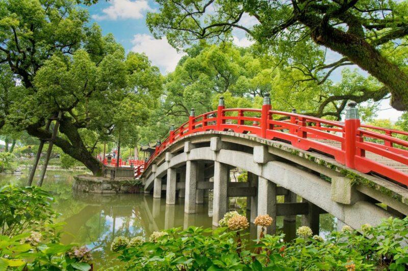 bridge which inside Dazaifu Tenmangu Shrine