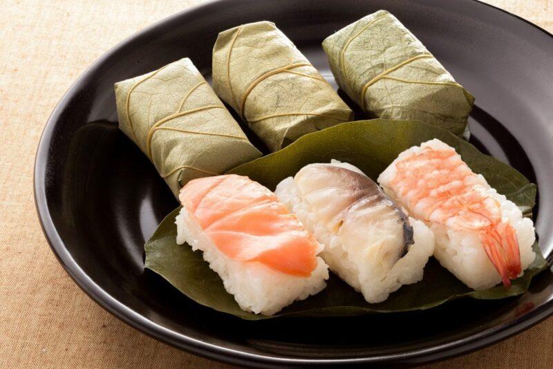 Kakinoha sushi in Nara